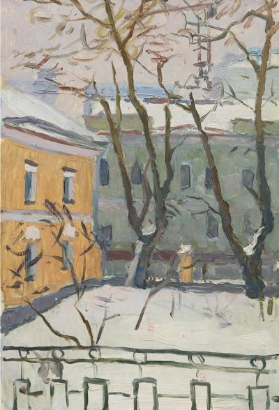 Картина «Зима в Ленинграде»