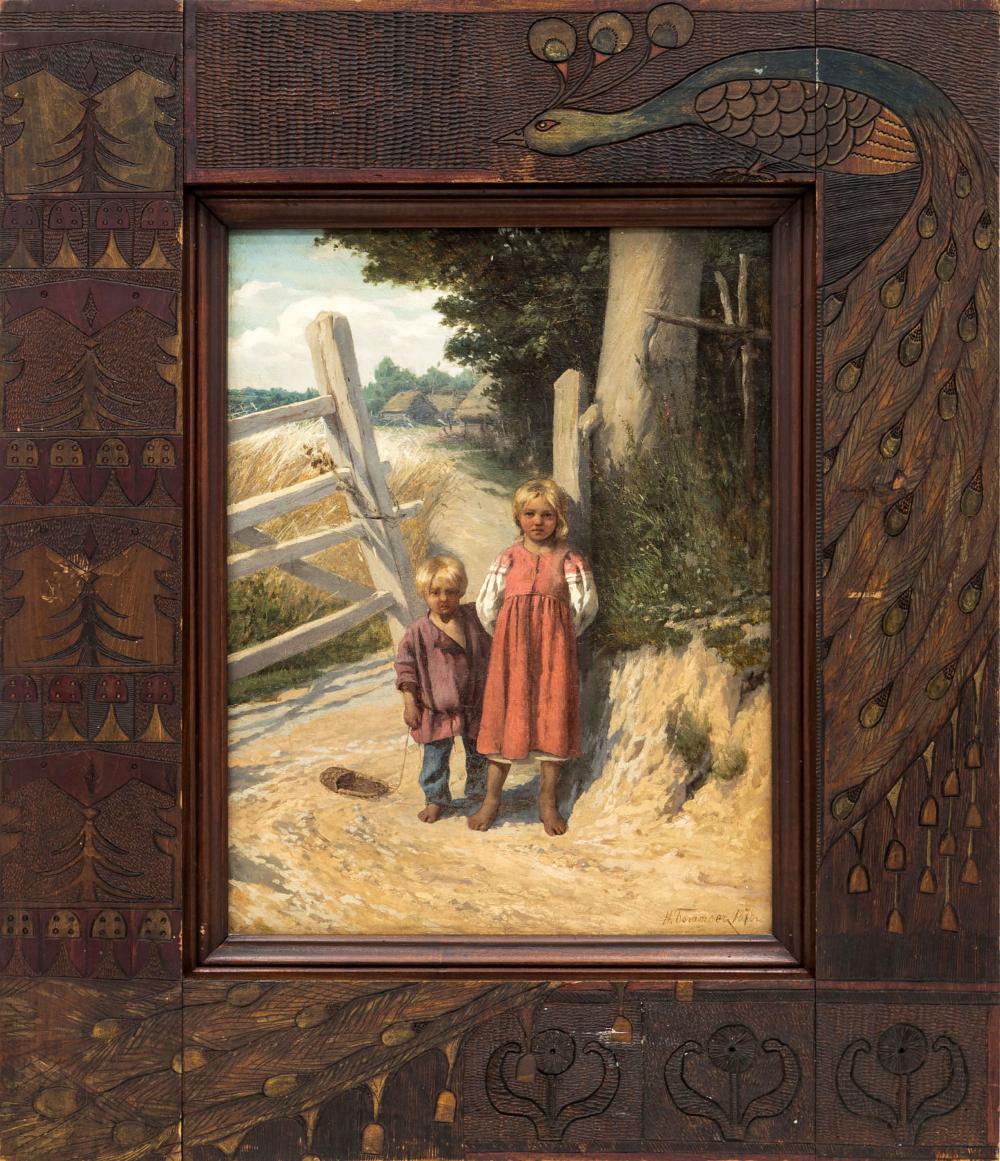 Картина «Дети у плетня»