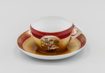 чайная пара Крестьянки частного завода Гарднер