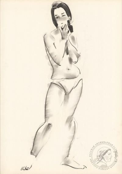 Рисунок №20 из серии «Обнаженные модели»