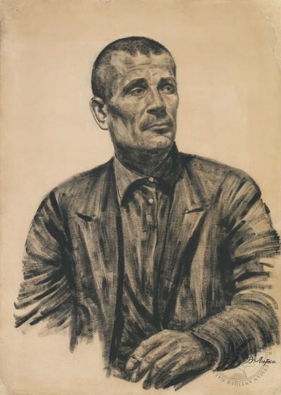 Рисунок «Портрет рабочего шахты»