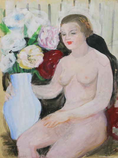 Рисунок «Обнаженная с вазой»