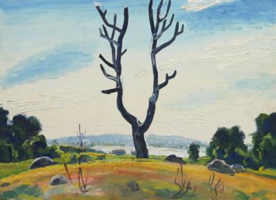 Картина «Пейзаж с сухим деревом»