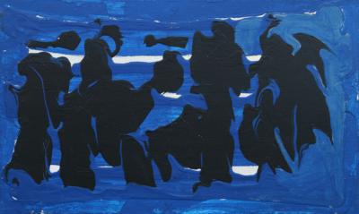 Картина «Композиция с чёрными кляксами»