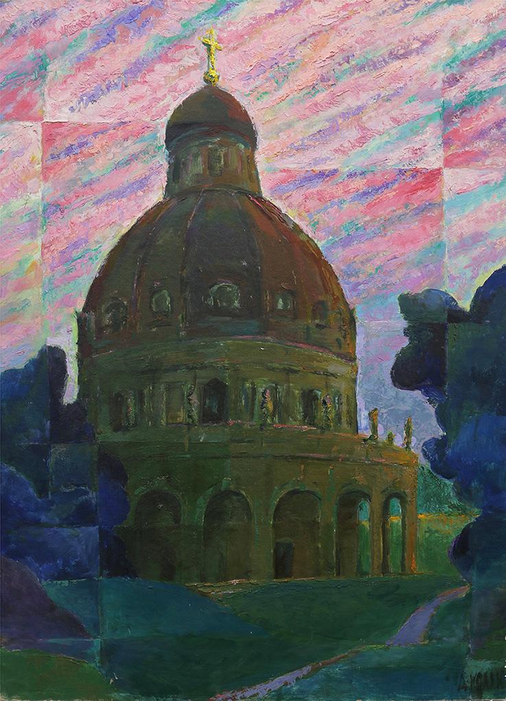 Картина «Пейзаж с храмом»