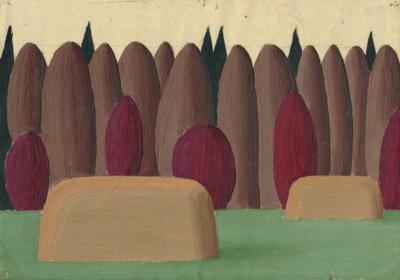 Картина «Подмосковный пейзаж со стогами»