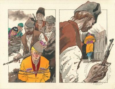 Рисунок «Пленник». Иллюстрация к книге «Неуловимые мстители в тылу врага»