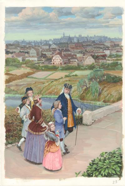 Иллюстрация «На прогулке»
