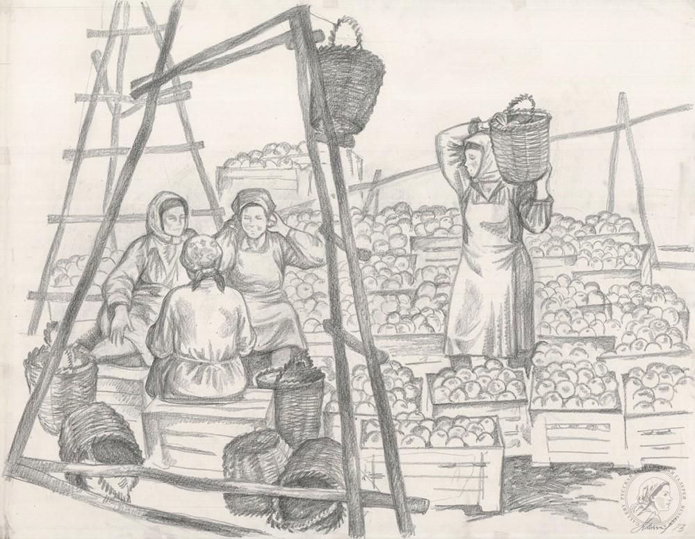 Рисунок «Укладчицы фруктов»