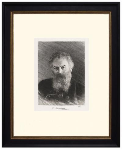 №1.Офорт Шишкина И.И Портрет художника
