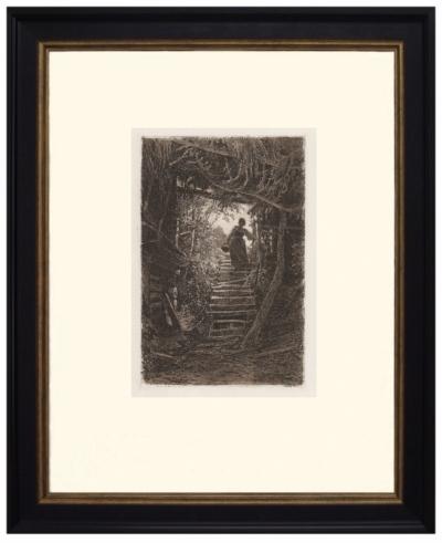 №10. Офорт Шишкина И.И Крестьянка, сходящая с лестницы
