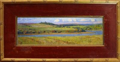Старинная картина Пейзаж. Ока Поленов