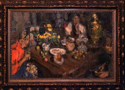 Картина За столом Радимов