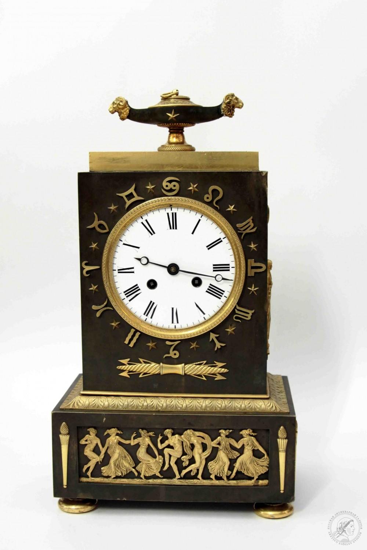 Часы бронзовые каминные в стиле ампир
