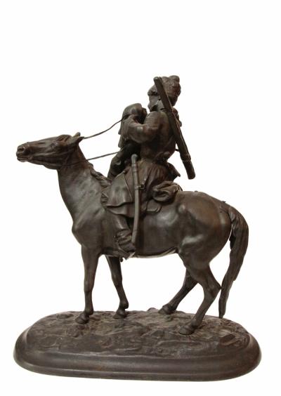 Скульптура чугунная Прощание казака с казачкой Лансере