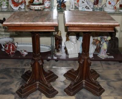 Столики с мраморной столешницей Придворная мастерская Шмидта