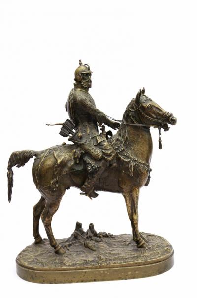 Опричник бронзовая скульптура Лансере