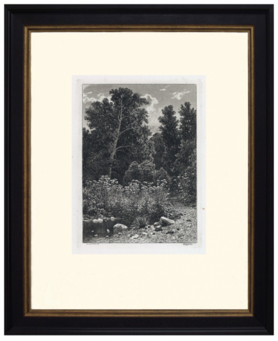 """№21. Офорт """"Опушка"""" 1885 год Шишкин И.И"""