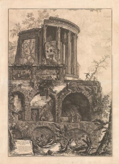 Еще один вид храма Сивиллы в Тиволи