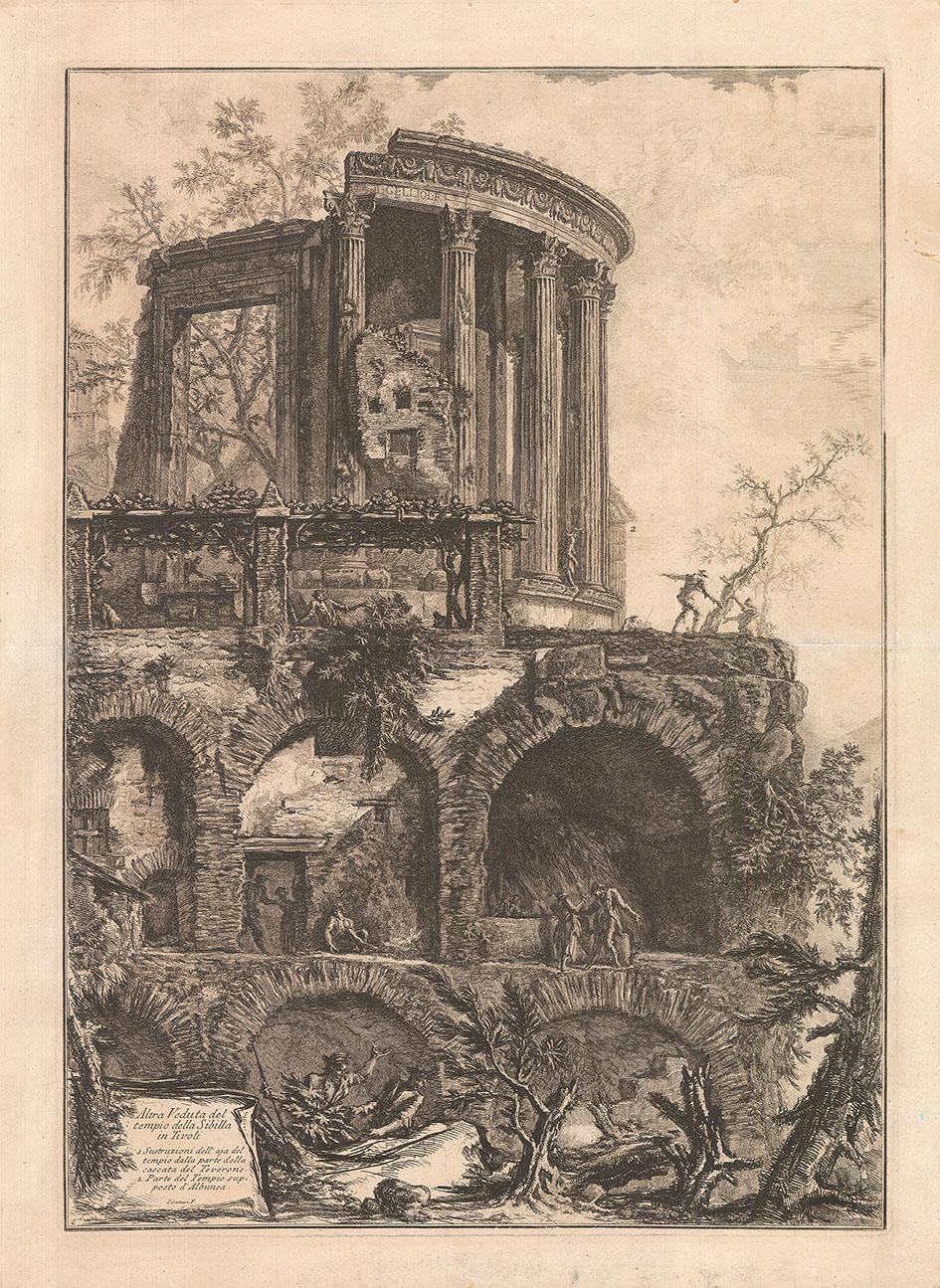 Гравюра «Еще один вид храма Сивиллы в Тиволи»