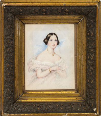 Акварель женский портрет