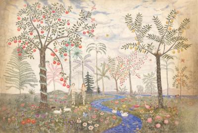 Адам и Ева в раю художник Смиронов Б.В.