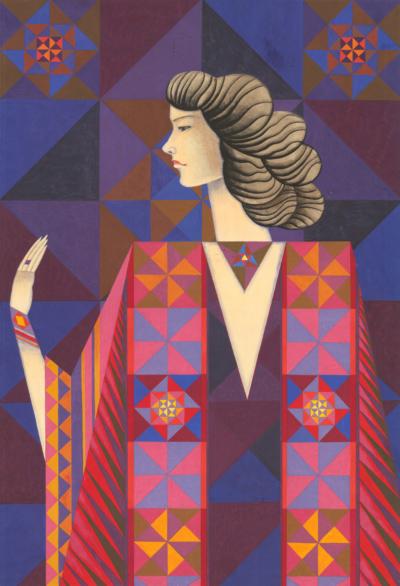 Григорьев Девушка в ярком платье