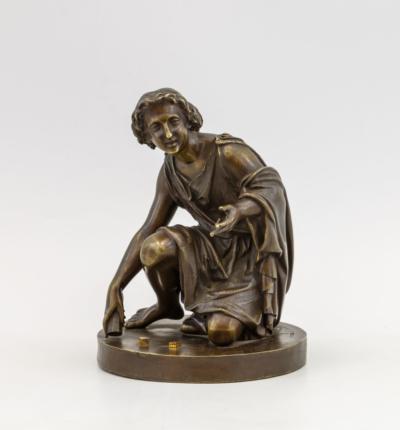 Бронзовая скульптура Игра в кости