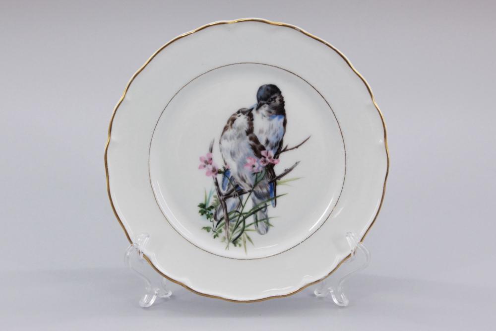 Тарелка декоративная Птицы фарфорового завода Братьев Корниловых