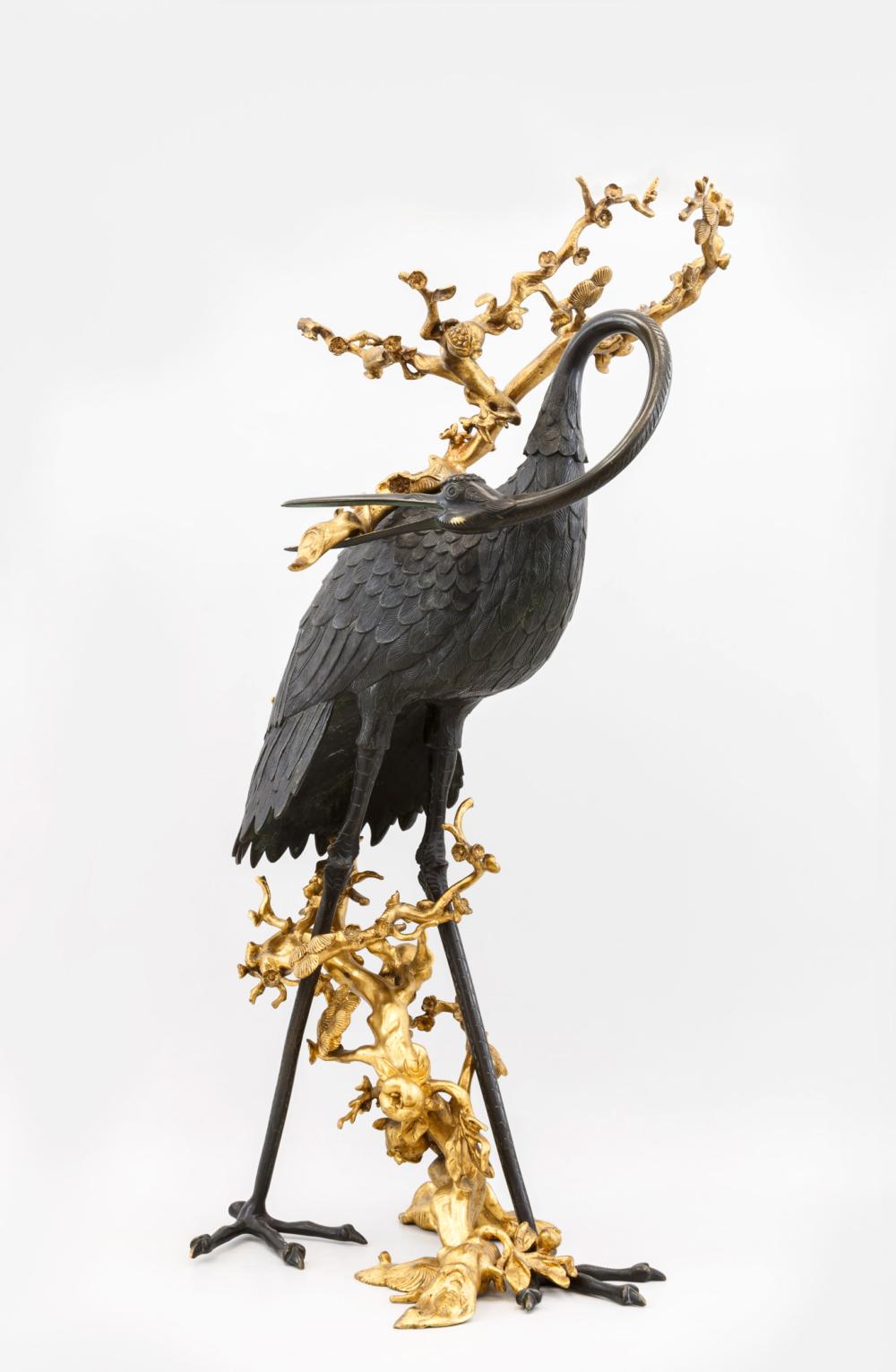 Скульптурная композиция «Журавль с гранатовой ветвью»