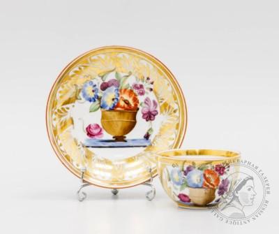 чайная пара цветы в горшке