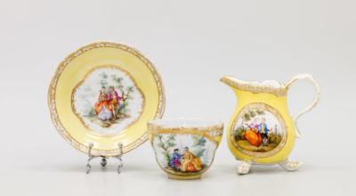 чайная пара и сливочник Meissen