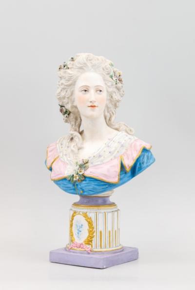 Бисквитный бюст девушки, Charles Levy & Co, Франция, 1876-1881 годы