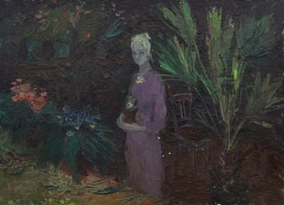 Картина Цветочница художник Юрпалова