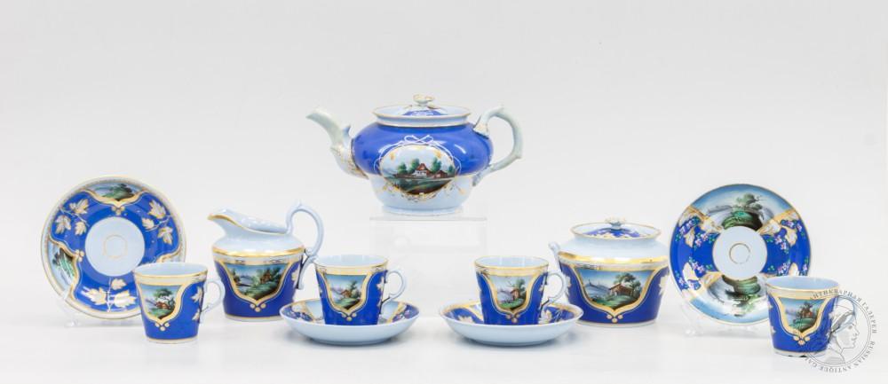 Чайный сервиз фабрики Братьев Барминых