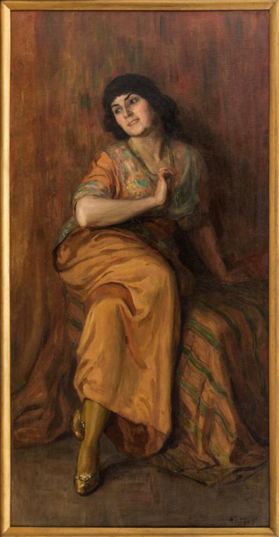 Рерберг Девушка в желтом платье