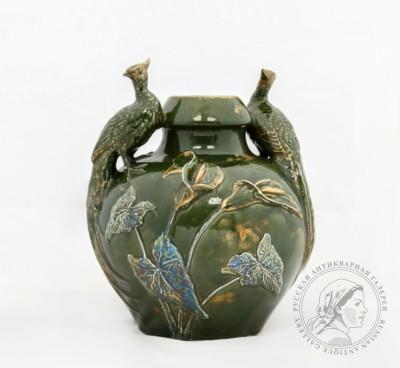 ваза павлины