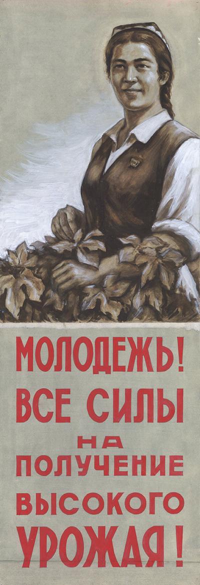 Молодежь! Все силы на получение высокого урожая!