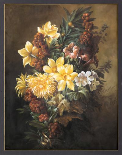 НХ Цветочный натюрморт в стиле бидермейер