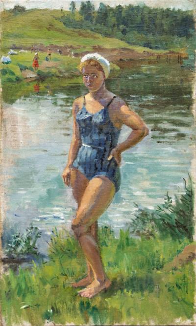 На речке Петров