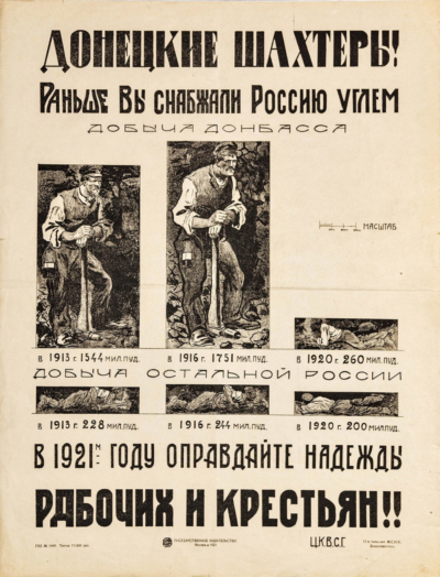 Плакат Донецкие шахтеры
