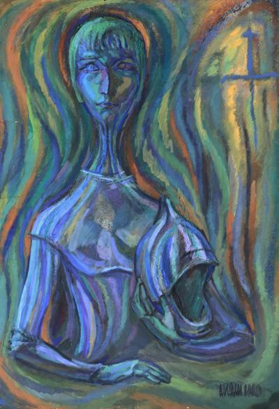 Портрет в латах художник Колли