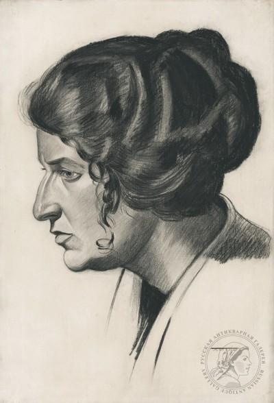 Женский портрет в профиль