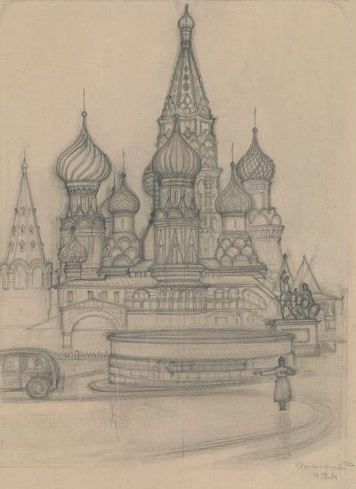 Регулировщик у Храма Василия Блаженного