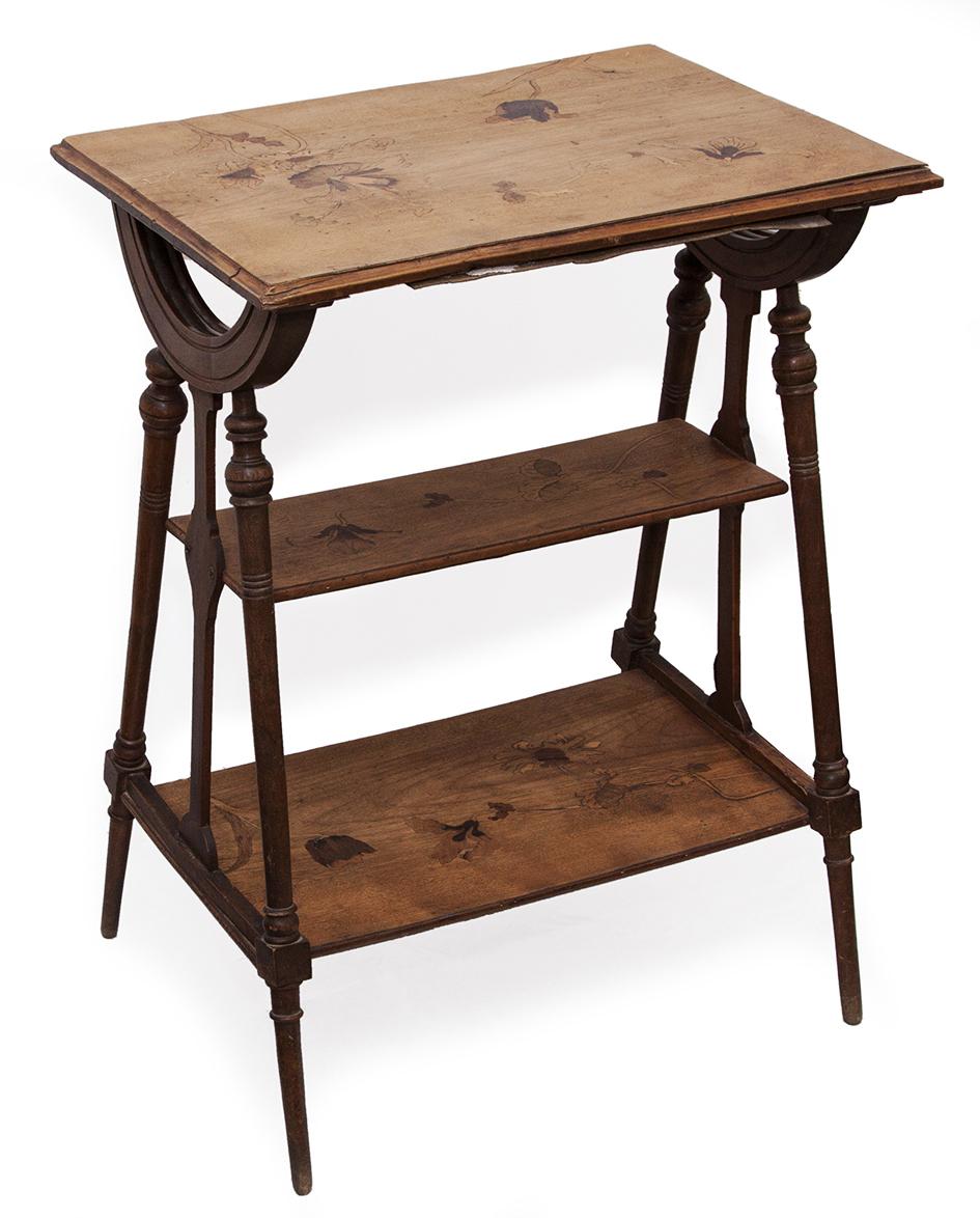 Столик в стиле модерн наборного дерева. Луи Мажарель.