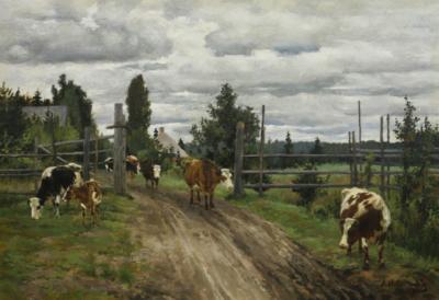Степанов Пейзаж с коровами