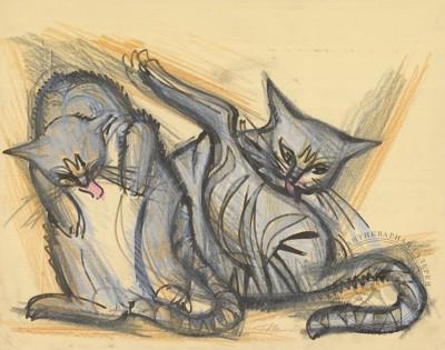 Тевосян пастель кошки