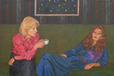 """Картина """"Только для мужчин. Завтрак"""" из серии """"В наше время"""""""