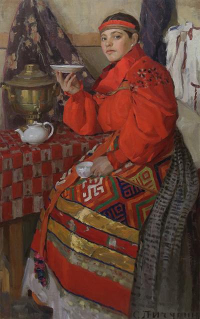 За чаем