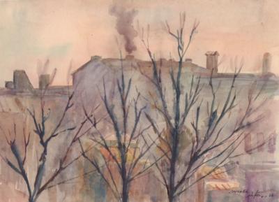 Весна в Москве художник Петров